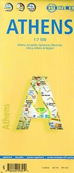 Athens (lamineret), Borch Map 1:7.500 (Borch City Maps)
