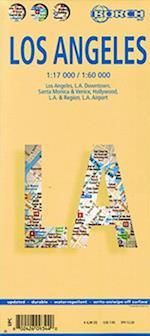 Los Angeles (lamineret), Borch Map 1:17.000/1:60.000 (Borch City Maps)