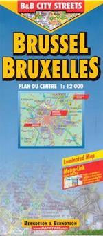 Brussels / Bruxelles (lamineret), Borch Map 1:12.000 (Borch City Maps)