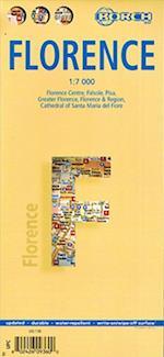 Firenze - Florence (lamineret), Borch Maps 1:7.000 (Borch City Maps)