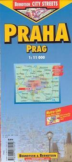 Prague / Prag (lamineret), Borch Map 1:10.000/1:15.000 (Borch City Maps)