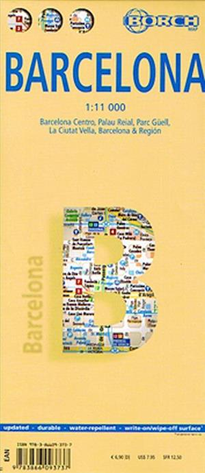 Bog, falset Barcelona (lamineret), Borch Map 1:11.000 af Borch GmbH