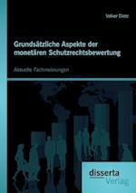 Grundsatzliche Aspekte Der Monetaren Schutzrechtsbewertung af Volker Dietz