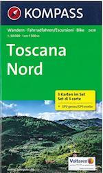 Toscana Nord, Kompass Hiking & Cycling map 2439 (Kompass Hiking Biking, nr. 2439)