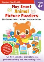 Play Smart Animal Picture Puzzlers 4+ (Gakken Workbooks)