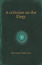 A Criticism on the Elegy