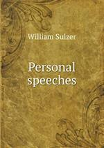 Personal Speeches af William Sulzer