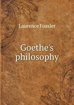 Goethe's Philosophy af Laurence Fossler