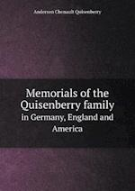 Memorials of the Quisenberry family in Germany, England and America