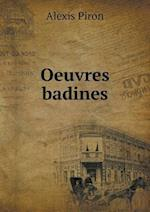 Oeuvres Badines af Alexis Piron