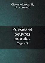 Poesies Et Oeuvres Morales Tome 2