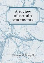 A Review of Certain Statements af Thomas Mcdougall