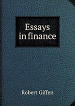 Essays in Finance af Robert Giffen