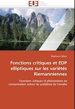 Fonctions Critiques Et EDP Elliptiques Sur Les Varietes Riemanniennes (Omn Univ Europ)