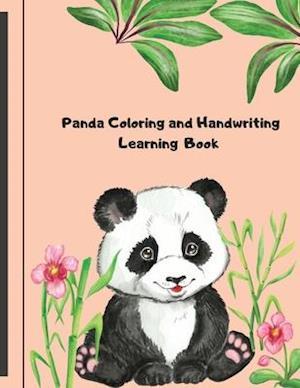 Panda Coloring and Handwriting Learning book: Panda Coloring Book for Kids: Funny Coloring Pages for Toddlers Who Love Cute Pandas