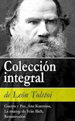 Coleccion integral de Leon Tolstoi (Guerra y Paz, Ana Karenina, La muerte de Ivan Ilich, Resurreccion)