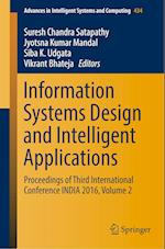 Information Systems Design and Intelligent Applications (Advances in Intelligent Systems and Computing, nr. 434)
