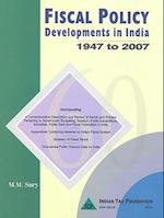 Fiscal Policy Developments in India af M M Sury