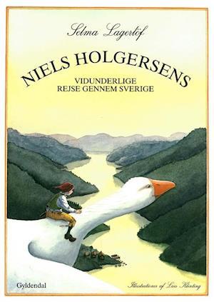 Bog, indbundet Niels Holgersens vidunderlige rejse gennem Sverige af Selma Lagerlöf