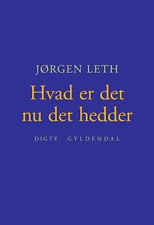 Bog hæftet Hvad er det nu det hedder af Jørgen Leth