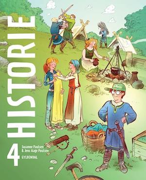 Bog, indbundet Historie 4 af Susanne Paulsen, Jens Aage Poulsen