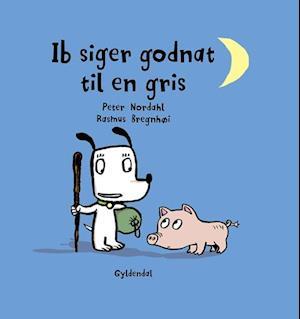 Ib siger godnat til en gris