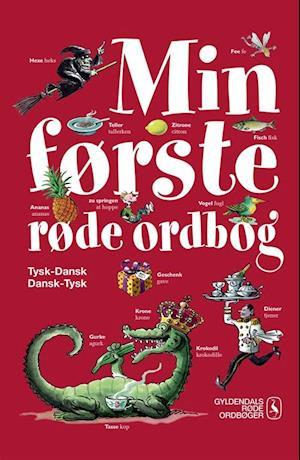 Bog indbundet Min første røde ordbog - tysk-dansk dansk-tysk af Gyldendal Ordbogsredaktion
