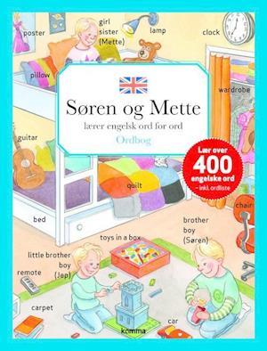 Bog hardback Søren og Mette lærer engelsk ord for ord af Merete Schäffer