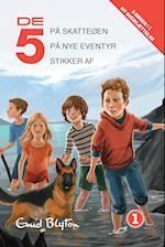 De 5 på nye eventyr- De 5 på skatteøen- De 5 stikker af (De 5, nr. 1)
