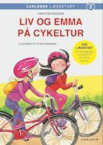 Liv og Emma på cykeltur (De små stribede)