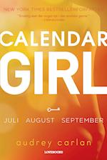 Calendar girl- Juli, august, september af Audrey Carlan