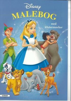 Bog, hæftet Disney klassikere - Malebog med klistermærker ( kolli 6 )