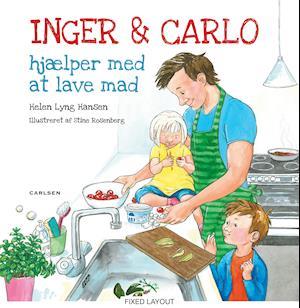 Inger og Carlo hjælper med at lave mad af Helen Lyng Hansen