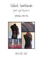 Valket tørklæde - sort og regnbue