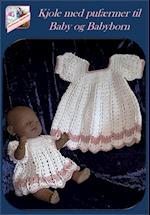 Kjole med pufærmer til baby og babyborn af Gurli Lykke Søndergaard