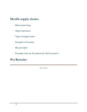 Supply Chain Management for medical supplies