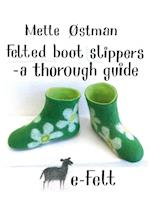 Felted boot slippers - a thorough guide af Mette Østman