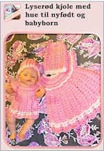 Lyserød kjole med hue til nyfødt og babyborn