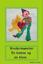 Broderimønster bamse og klovn med hjerte