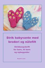 Strikkeopskrift til babyvanter til børn, for børn og nybegynder