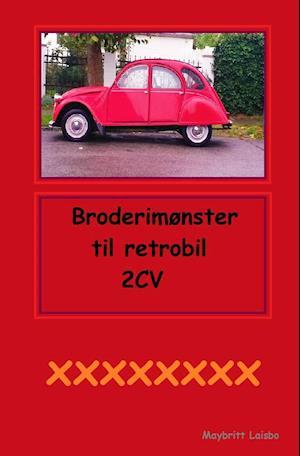 Retro bilpude broderimønster af Maybritt Laisbo