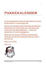 PAKKEKALENDER MED IDÉER TIL HVAD MAN KAN LAVE FRA 1. - 24. DEC. af MERETHE HAUE