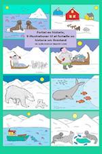 Fortæl en historie, 9 illustrationer til at fortælle en historie om Grønland