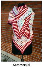 Sommersjal - Stort strikket sjal med