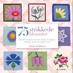 75 strikkede blomster