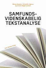 Samfundsvidenskabelig tekstanalyse (Samfundsvidenskabernes metoder)