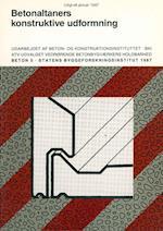 Betonaltaners konstruktive udformning (Beton, nr. 5)