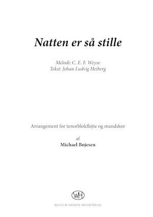 Natten er så stille af Michael Bojesen, C.E.F. Weyse