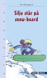 Silje står på snow-board (Dingo mikro)