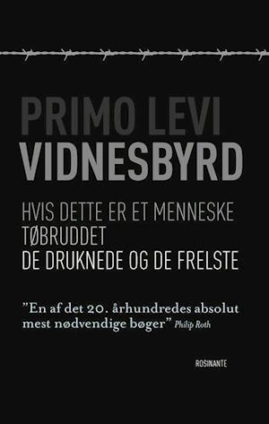 Bog, hæftet Vidnesbyrd af Primo Levi